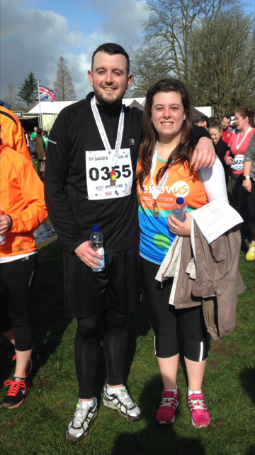 Ricky and Cassie - St Davids Day Run